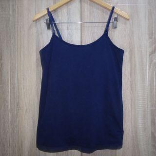 (M-L) Motherhood Oh Baby nursing tank top, navy blue color, nice in actual, garter bust support