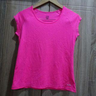 (S) Champion DuoDry+ neon pink tee, nice in actual, with minimal snag, almost looks new