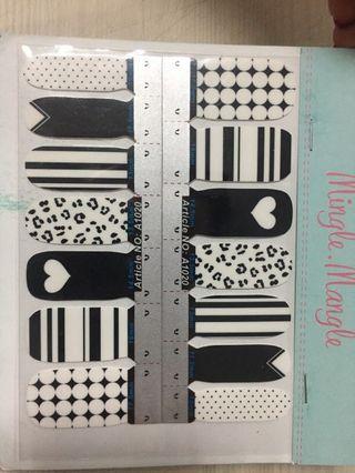 Nail Sticker black n white
