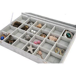 12 / 24 Slot Velvet Jewelry Display Storage Box