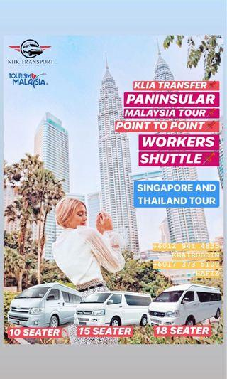 klia van / airport van / bus kilang / city tour
