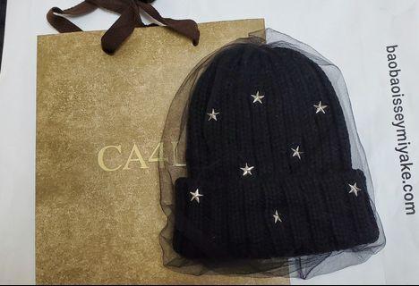 全新 秋冬新款 CA4LA 星星針織網紗毛帽