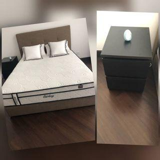 Mattress, dorma, quality, bed frame almost new