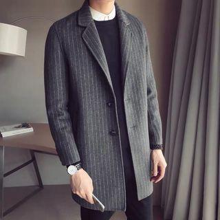 【 Gshop.】風衣長款英倫風毛呢西裝外套大衣