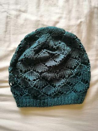 Green Beanie Knitted