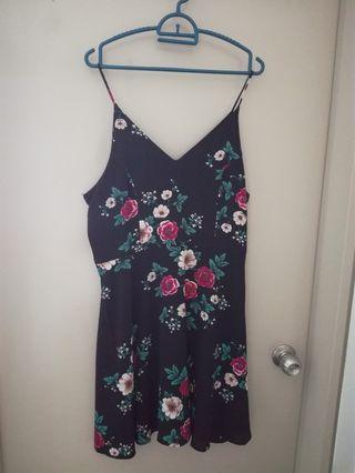 Zalora Floral Flare Dress