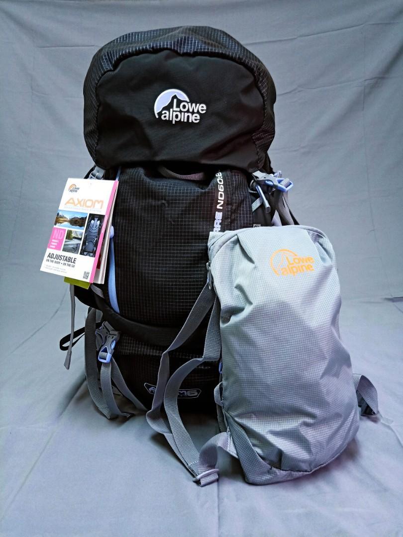全新Lowe Alpine旅行登山後背包/運動背包(黑)