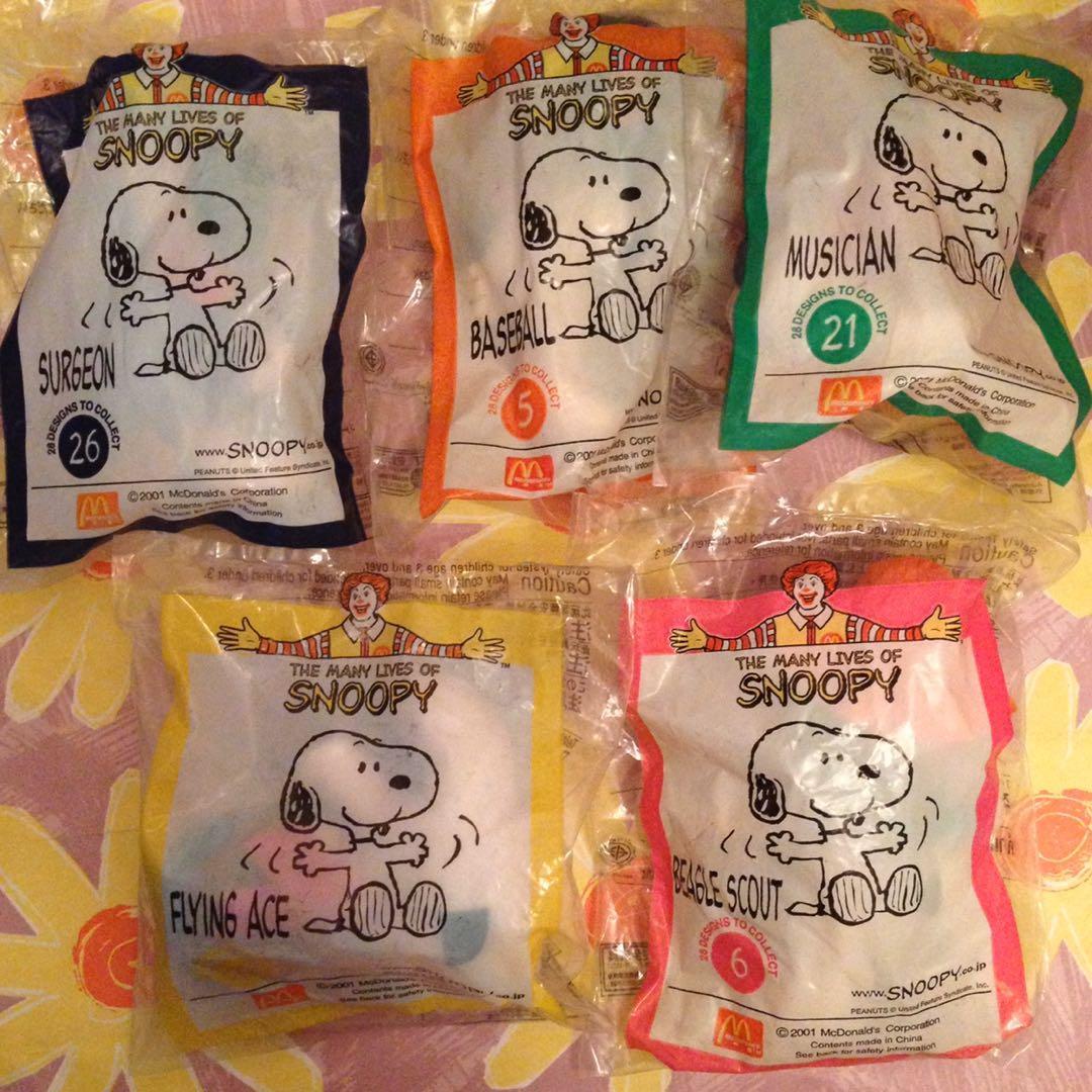 麥當勞 Snoopy 公仔五隻
