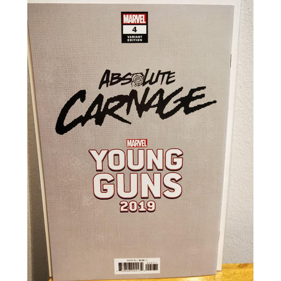 ABSOLUTE CARNAGE 4 Del Mundo Young Guns Variant Marvel 2019 NM