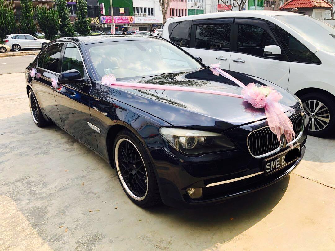 BEST Wedding Car Rental BMW 7Li with driver!! (SPECIAL PROMO Dec)
