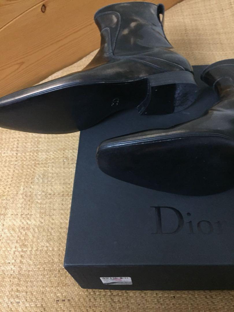 Brand new Dior homme 2009 Bronze metallic Chelsea  boots