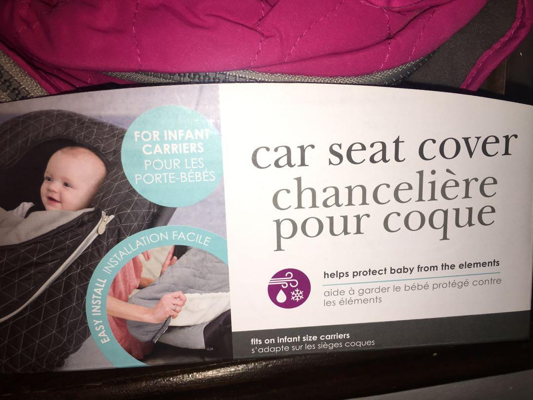 Brand new in packaging JJ COLE pink car seat cover