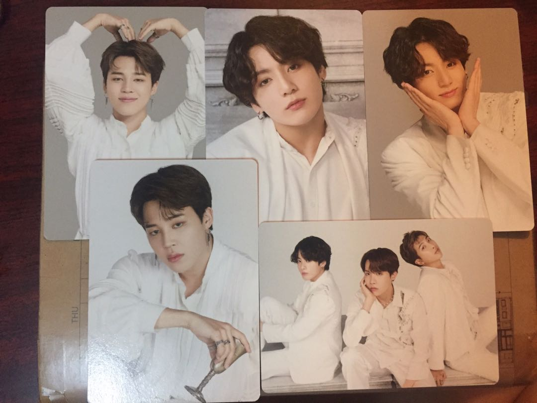BTS mini photo card 小卡 Jimin Jungkook