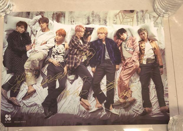 [BTS]防彈少年團 親筆簽名poster