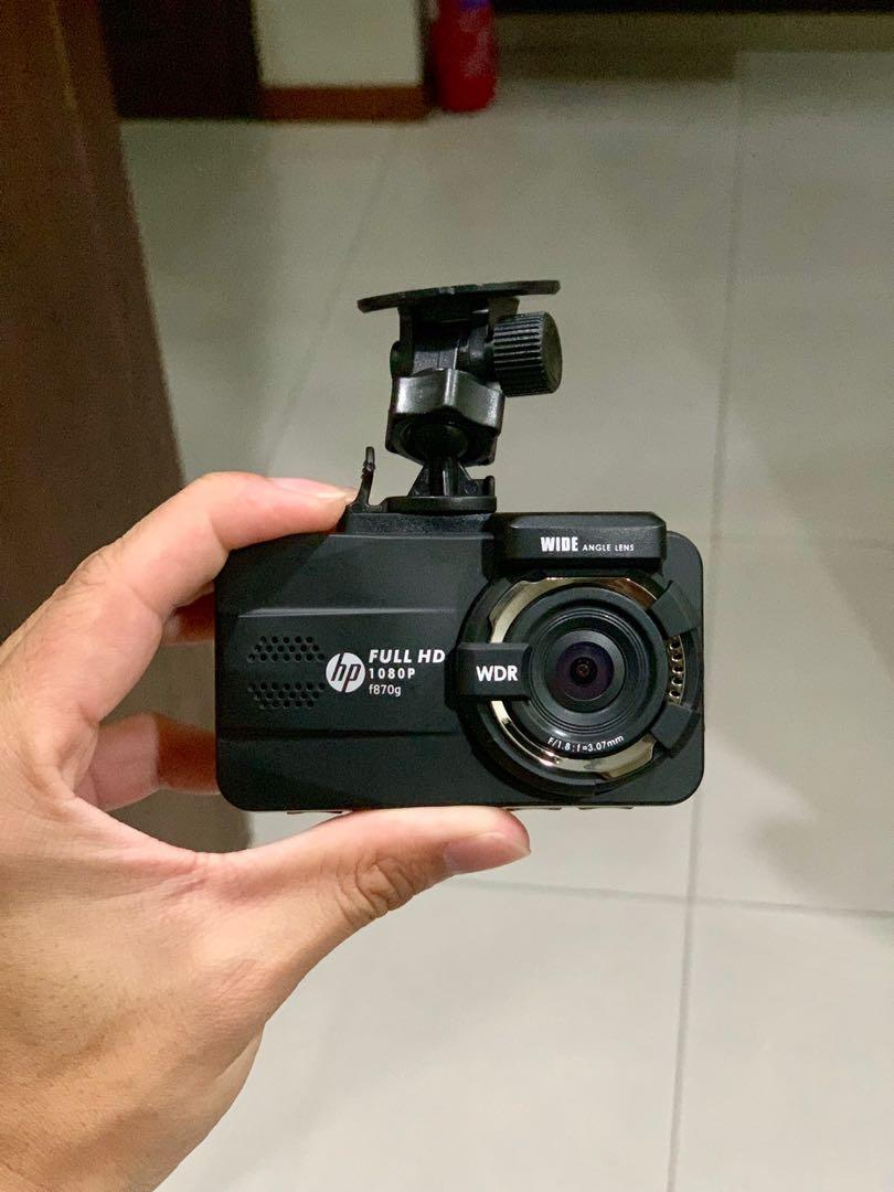 Clearance: Two-Channel (Front & Rear) FULL HD HP F870G Car Camera (from Agent)