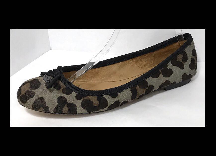 Coach Florabelle Calfhair Ballet Flat Leopard Shoes