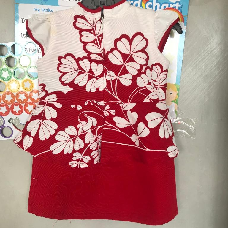 DRESS CHEONGSAM ANAK 2TH MERK POKE A DOT CACAT GARIS GARIS