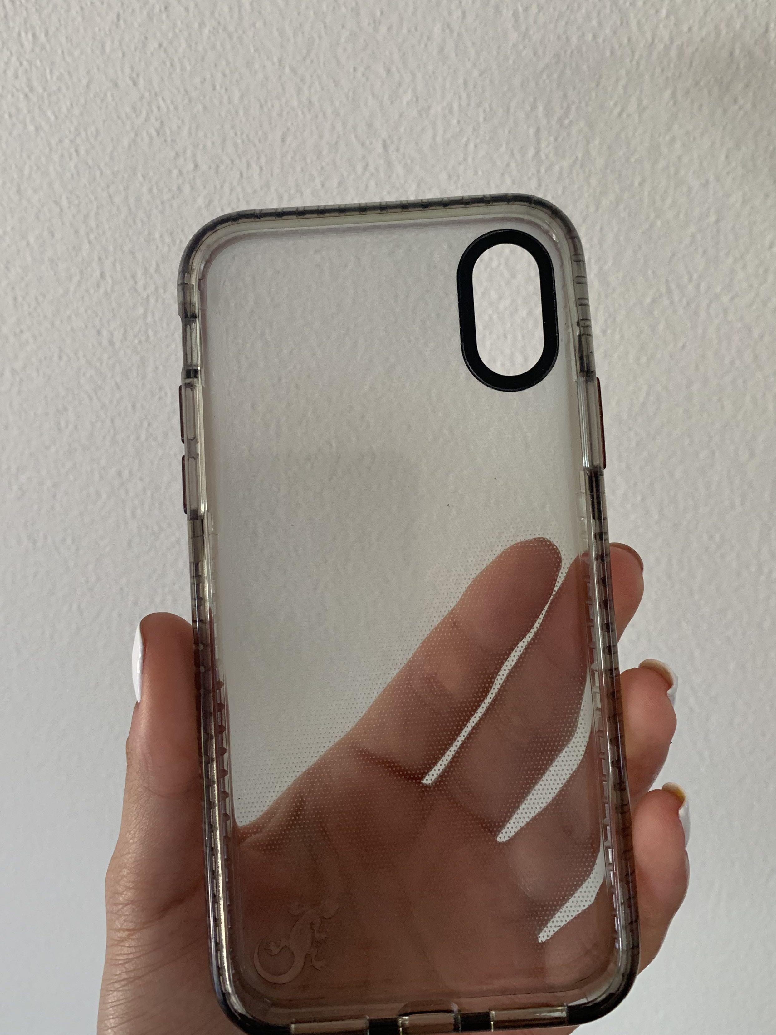 Gecko ultra tough bump slim case for iPhone X or iPhone XS grey