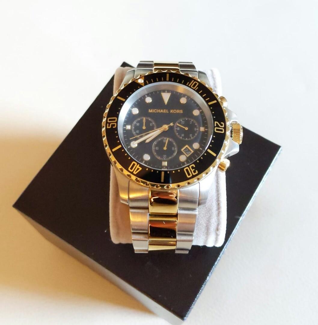 Genuine michael kors two tone chronograph watch