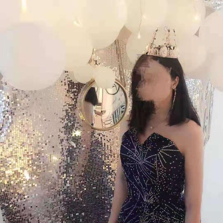 Glitter Starry Sparkle Dinner Dress / Maxi Prom