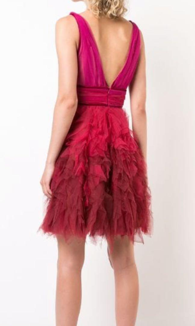 Marchese Notte- Ruffle tulle dress (size 10) *worn once*