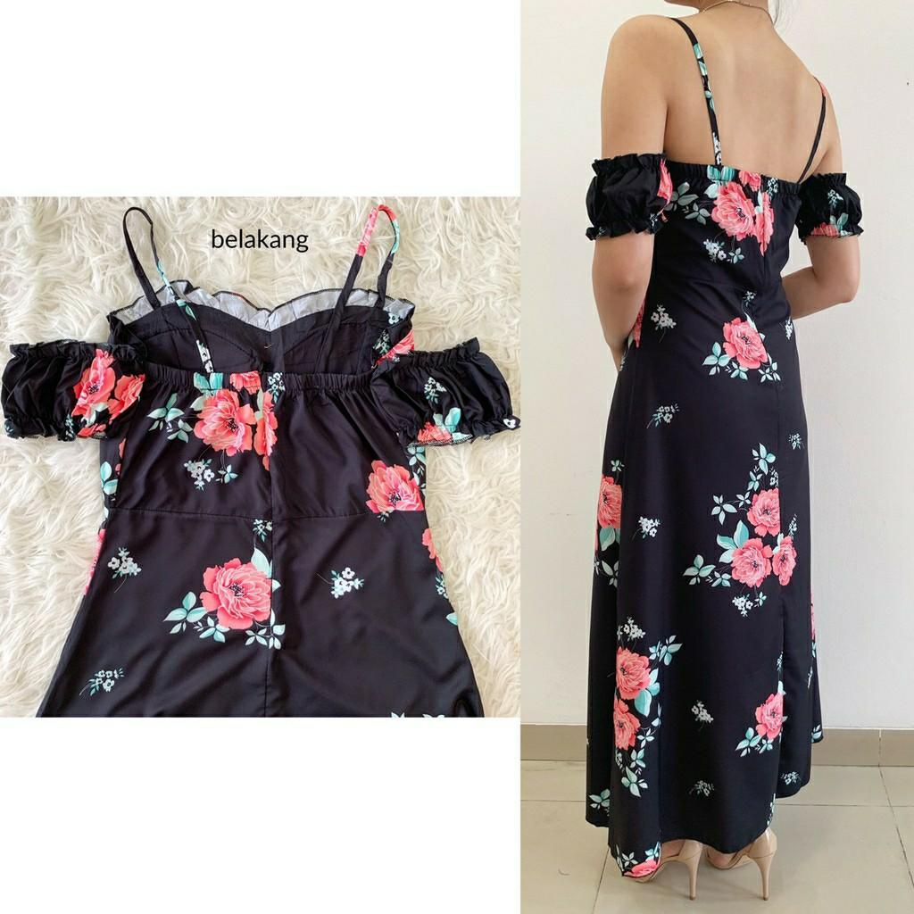 Maxi dress Rosie Off Shoulder Maxi Dress D6847 sabrina dress floral dress slit dress casual dress dress tali dress pantai