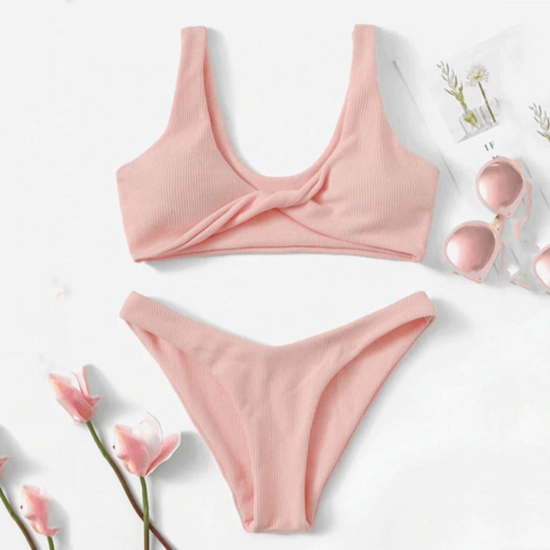 Pink Bikini Set | Brand New Ready Stocks | Size S-L Available | Sale