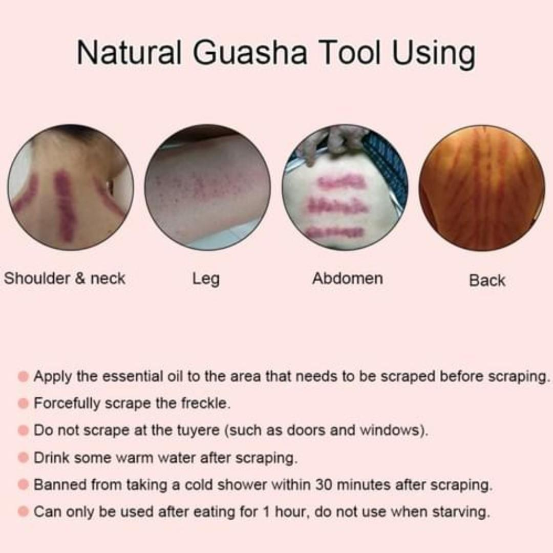 Rose Quartz Face Massage Tool | Guasha | Natural Stone | 1 Piece | Brand New Ready Stocks | Sale