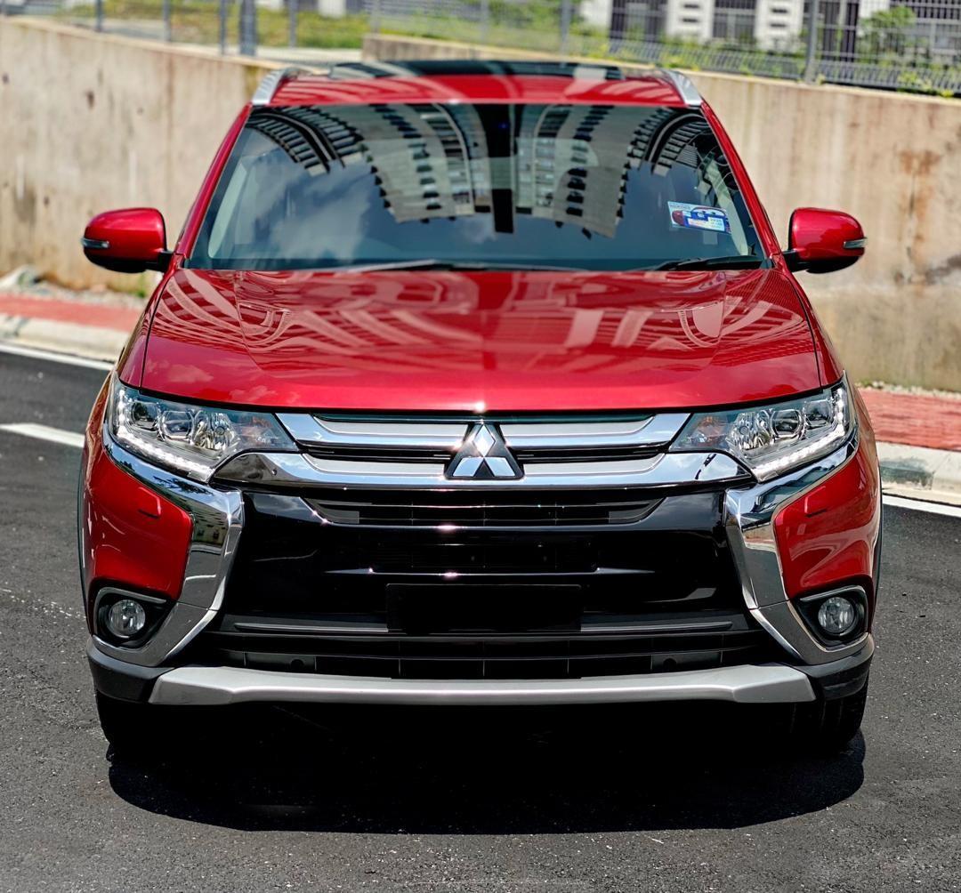 SEWA BELI>>MITSUBISHI OUTLANDER 2.4 AWD LATEST FACELIFT FULLSPEC SUV 7 SEATERS 2017