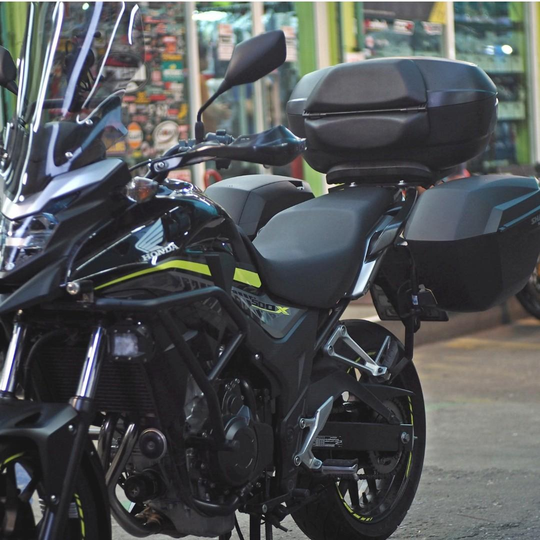 Shad Singapore Honda CB400X CB500X Top Rack Top Case Side Case ! Ready Stock ! Promo ! Do Not PM ! Kindly Call Us ! Kindly Follow Us !