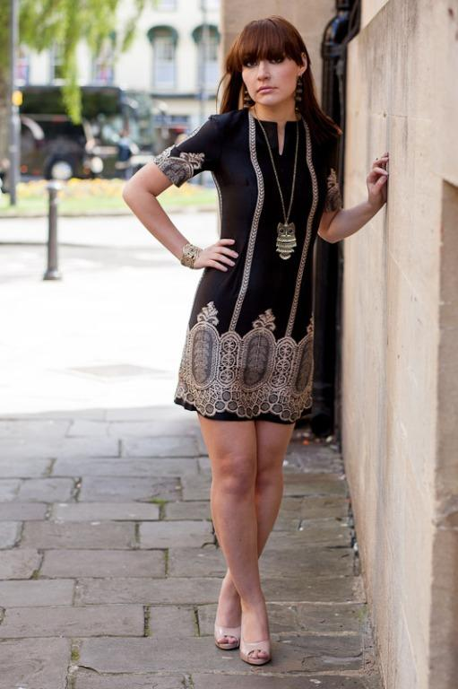 Shift Dress - One ever made Size 8, Black and White