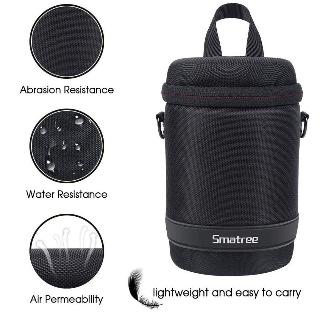 Smatree CP125 DSLR/SLR/Mirrorless Hard Shell Camera Lens Case Bag Travel/Hike/Camp