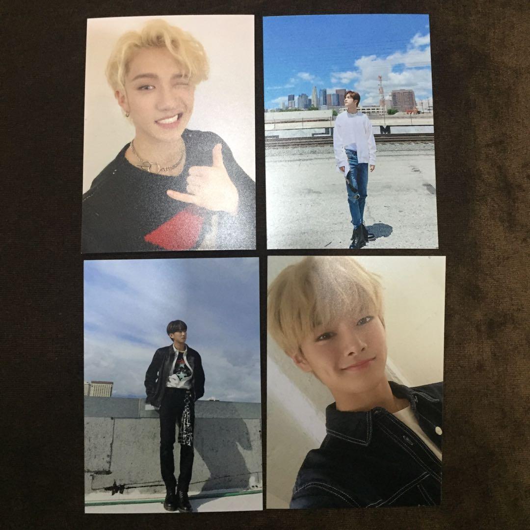 Stray Kids Yellow Wood Broadcast Photo - Bang Chan, Woojin, Changbin, I.N