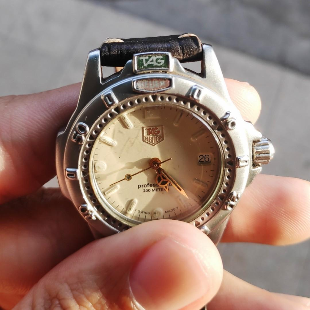 TAG HEUER 4000 Professional Quartz Swiss Watch Jam Tangan Second Original bukan Seiko
