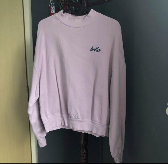 Ulzzang Bershka Purple Pullover Oversized Sweater INSTOCK
