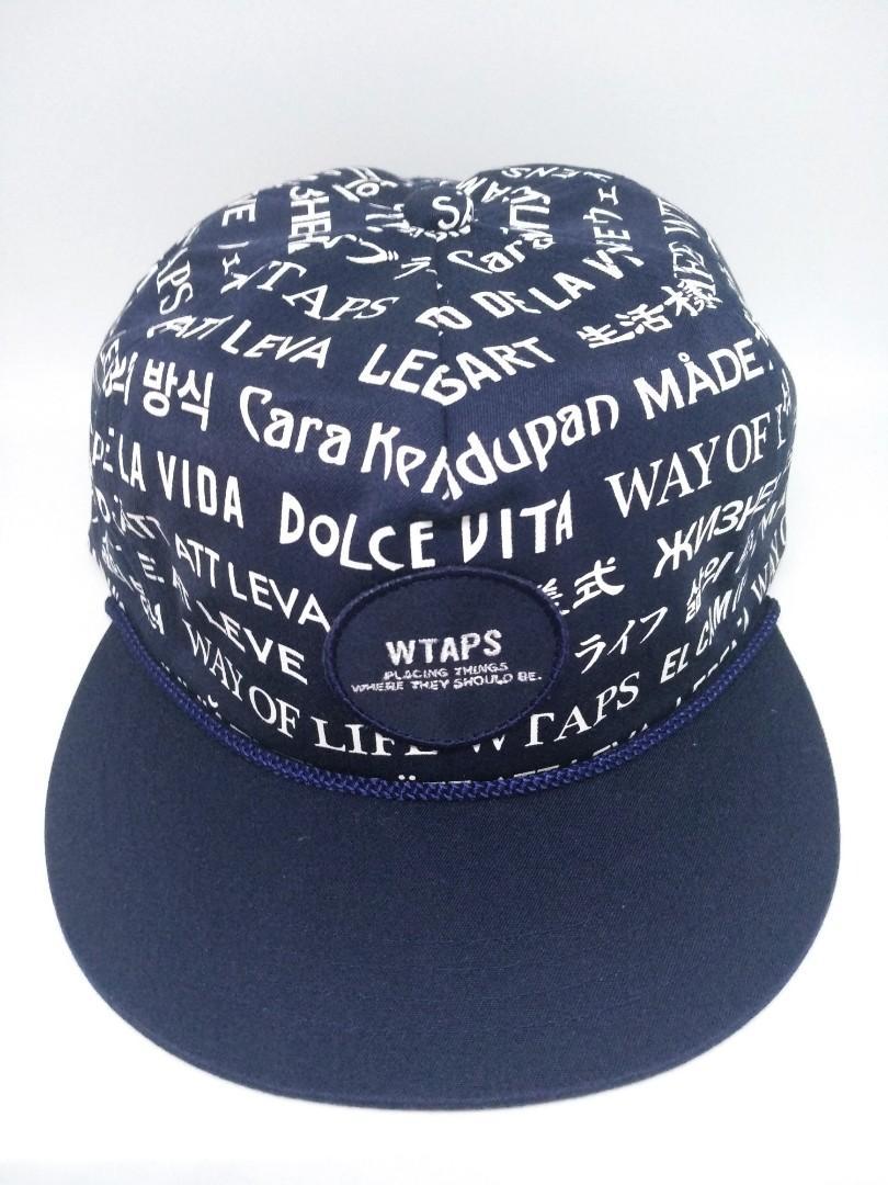 WTAPS S16 MILITIA 01 BLACK & NAVY CAP