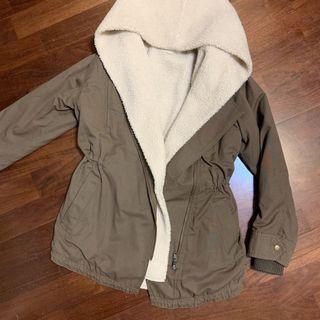 日本🇯🇵caca deal 三種穿法羊羔毛保暖風衣外套