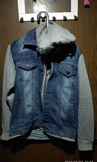Jaket jeans kombinasi #mauovo
