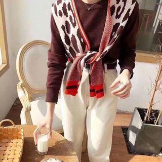 正韓/全新,衣+披肩豹紋,售$700,質感非常好,原價$980
