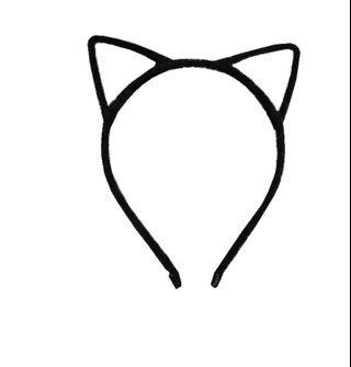 韓版貓耳立體髮箍-黑色