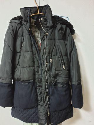 厚磅韓國連帽大衣