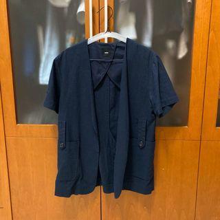 Korean Navy Short Sleeve Blazer