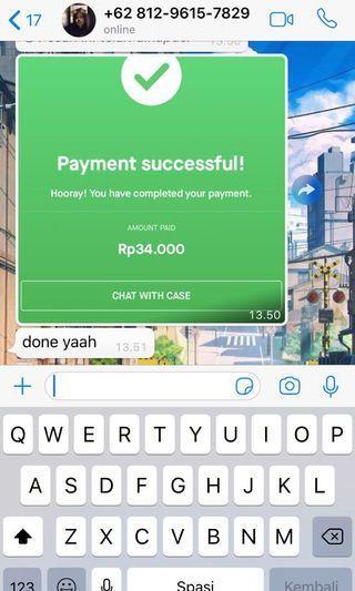 Bukti transfer customer