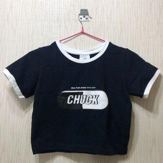 CHUCK 短版logoT恤