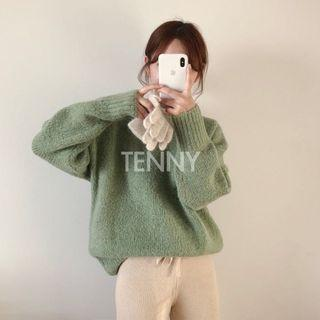 Tennyshop 韓貨 🇰🇷 馬海毛80微領毛衣
