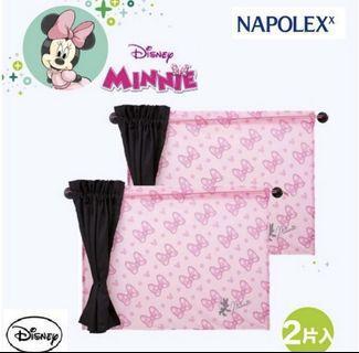 Disney 米妮 車用雙層遮陽簾