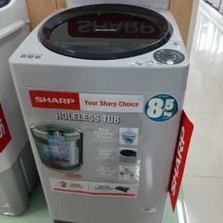 Mesin cuci sharp 8Kg Cicilan Tanpa CC Tanpa Dp & Gratis 1 Kali Angsuran
