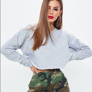 MISSGUIDED Oversized Cropped Sweatshirt