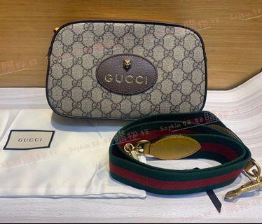 Gucci GG supreme 虎頭包 相機包 綠紅綠背帶 孫芸芸 476466 *全新商品*