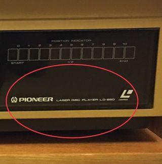 先鋒牌PIONEER laser disc player LD-660 古董機。早期收藏。只有主機
